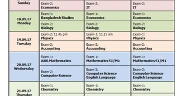 Pre Mock Schedule F